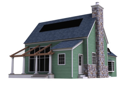 Passive Design Prefab Midway Cottage Kit