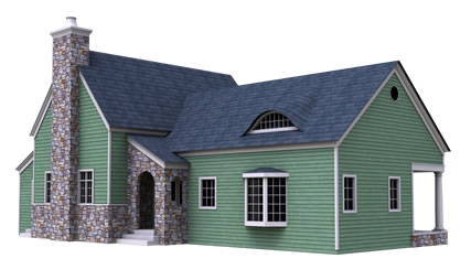 West virginia house kit from green cottage kits a prefab for Sip home packages